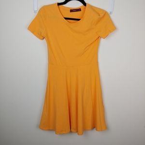 Orange Doublju Mini Dress Sz M